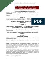 Ley para Prevenir y Eliminar la discriminación en el Distrito Federal
