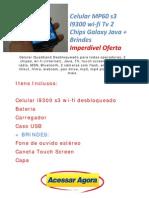 Celular Mp60 s3 i9300 Wi Fi Tv 2 Chips Galaxy