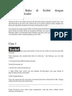 [Trick] Download Buku Di Scribd Dengan Scribd Downloader