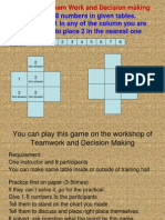 Game for Team Work and Decision Making