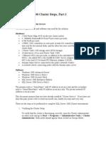 Cluster Server Help Docs