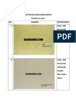 Daftar Katalog Kain Kanvas