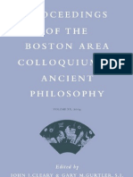 9004142495 - Gary M. Gurtler - Proceedings of the Boston Area Colloquium in Ancient Philosophy, 20 Volume XX - Brill Academic Pub