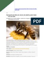 Nanopartícula feita de veneno de abelha pode matar vírus da aids