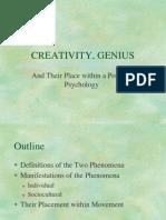 CREATIVITY, GENIUS