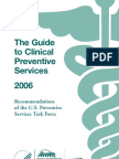 Pocket Guide to Clinical Preventive Services, 2006