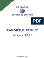 Raportul Public Pe Anul 2011