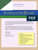 Englewood Schools' Spring 2013 Shareholder Report