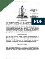 534595 Decreto Numero 312002 Ley Organica de La Contraloria General de Cuentas