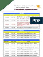 Kalendar Tarikh Penting Kemasukan Ke IPTA Bagi Tahun 2013