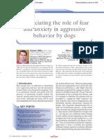 Agressividade ansiedade e medo cão
