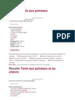 Tarte Aux Poireaux
