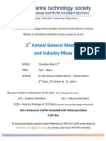 1st AnThe Marine Technology Society Student Section of the Marine Institute's 1st Annual General Meeting and Industry Mixernual Meeting Poster