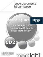 Standing Orders 24 – 26 April 2009 Nottingham Britannia