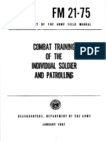 Combat Trg of the Individual Soldier & Patrolling