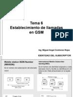 SM. Tema 7.. GSM. Establecimiento de Llamadas