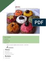 Cupcakes frugívoros - Receita
