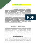 Proyecto Educativo Siglo XX (Legislacion)