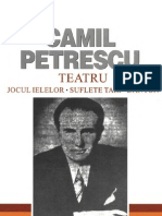 Petrescu, Camil - Teatru