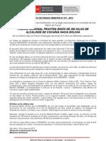 POLICÍA NACIONAL FRUSTRA ENVÍO DE 280 KILOS DE ALCALOIDE DE COCAÍNA HACIA BOLIVIA