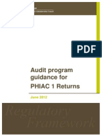 PHIAC 1 Audit Guidance 2012