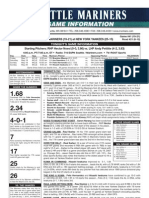 Mariners/Yankees game notes