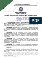 2004 Portaria Interministerial 2.509 - 2004.11.18 - Atribuições e normas relativas ao Programa Bolsa Família.-1