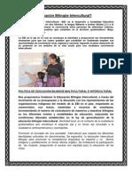 Educacion Bilingue, Multicultural e Intercultural