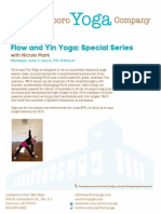 Flow and Yin Yoga