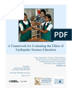 Girls Earthquake Science and Safety Initiative Evaluation Framework