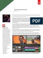 Adobe Premiere Pro CS6 Brochure