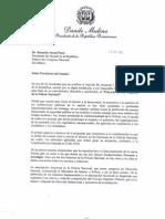 Carta al Senado/Proyecto Ley Orgánica de la Policía Nacional