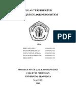 Manajemen Agroekosistem Tanaman