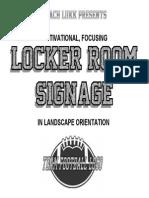 Coach Lukk's Locker Room Signage - Landscape