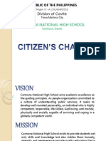 Citizen's Charter - Cnhs