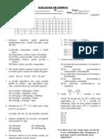 Avaliação de Química - 3º B - 2º ano