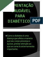 ALIMENTAÇÃO DIABETICOS
