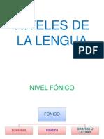Niveles de La Lengua