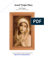 Cross stitch patron. Virgin Mary.