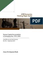 Human Capital Accumulation in Asia 1970-2030
