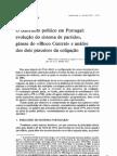evolução do sistema de partidos em Portugal
