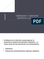 AMIBIASIS Y ABSCESO HEPÁTICO AMIBIANO