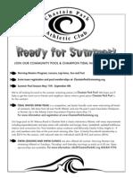 Chastain PoolTidal Waves Flyer