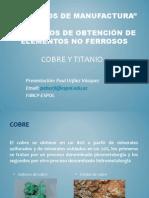 Procesos de Manufactura Cobre Titanio