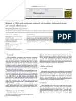 Removal of PAHs With Surfactant-Enhanced Soil Washing Influencing Factors and Removal Effectiveness