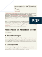 Top 10 Characteristics of Modern American Poetry