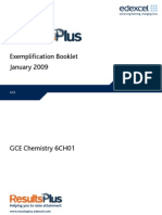 Exemplification Report Chemistry 6CH01
