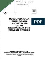 Modul Pelatihan Pemeriksaan Laboratorium Dalam Kewaspadaan Dini Penyakit Menular (INO AAD 007 XW 08 J SE-09-148892