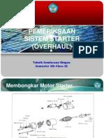 Pemeriksaan Dan Perbaikan Sistem Starter