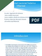 Universidad Nacional Federico Villarreal PPT ANALISSI FUNCIONAL